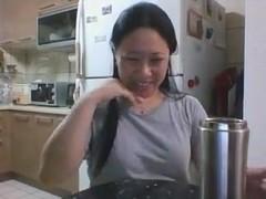 Skype Slut Miss Z Playing in Kitchen - Copy