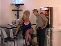 Naughty Blonde Tranny Riding On Stiff Cock