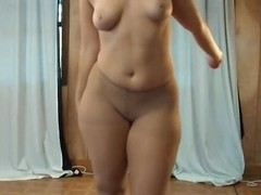 My gf dances and shows me her tits