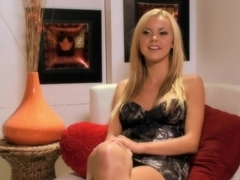 Honey blonde rides Jessie Rogers rides cock at the same time plays with her clit
