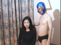 Captivating Chinese Gal vs Little Chinese Pro Wrestler