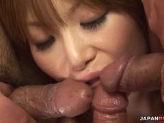 Group fucking with Rika Sakurai getting double penetrated