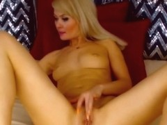 Flawless Sexy Blonde Strips And Masterbates on Cam