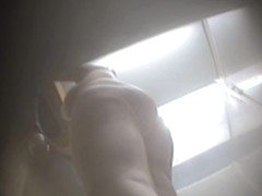Hot bottom chick on the dressing room spy camera video
