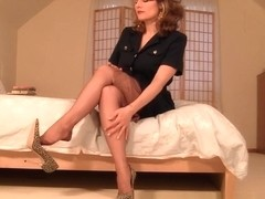 Horny Amateur clip with Stockings, Solo scenes