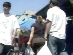 Public video of some hot babes filmed upskirt