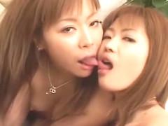 Best Japanese slut Aya Nitta, Saki Koizumi in Exotic Handjobs, Threesomes JAV clip
