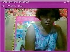 Whorish older darksome brown flashes her body on webcam