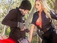 Samantha Saint In Busty Cops, Scene 1