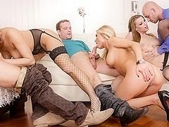 Laura Crystal, Mea Melone, Victoria Daniels in Swinger's Orgies #10, Scene #01