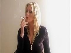 Blonde Woman Smoking #1