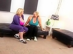 Threesome for Big Tittied Blonde MILFs Samantha and Karen