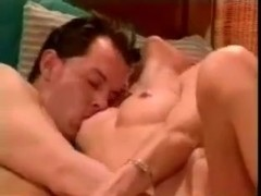 Hot shemale has sex with a sexy dude in vintage porn