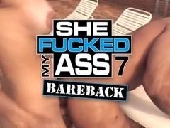 Sexy Latina tranny fucks dude ass hole