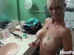 Ex stripper cougar does 1st porn BTS