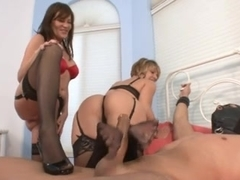 Double Nylon Stockings Footjob