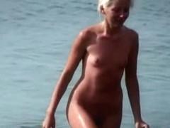 Nudist beach morning