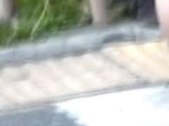 Clever prank to record her nice ass sharking shuri video