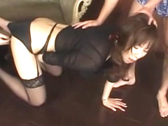 Hottest Japanese chick Homami Takasaka in Amazing Lingerie, Stockings/Pansuto JAV movie