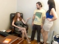 Sniffing Nylon Feet & Footjob in the Office