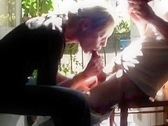 Quickie Blowjob Sex on the Porch Wife Blows Spouse