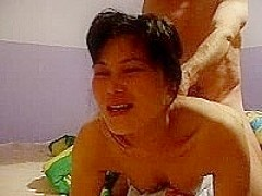 Thai chick screams 4 facial