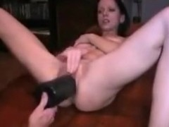 sweet brunette gets her vagina fisted