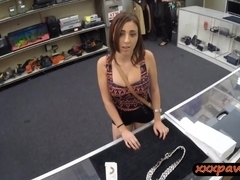 Busty slut offered up a blowjob to get her chain back
