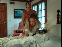 Golden-Haired licked fingered and drilled on the daybed