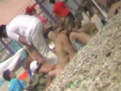 Excellent nude beach voyeur video