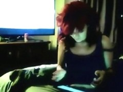 Redhead emo girl makes a sextape with her bf
