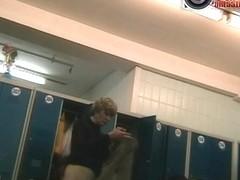 Older hot slut caught naked on a voyeur spy cam video