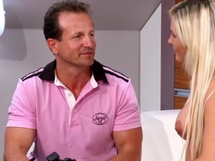 Fabulous pornstar in amazing facial, blonde sex movie