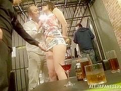Hot Asian models enjoy a group fuck party