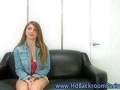 Topless brunette casting amateur