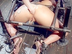 Plump breasted bimbo fisted during BDSM session