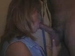 MILF sucking dick