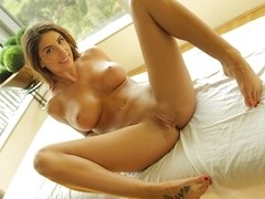 August Ames in Full Body Rub Down - PassionHD Video