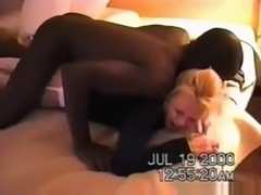 Cuckold husband films his wife getting fucked by a black stud in their bedroom