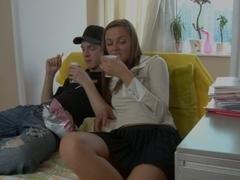 Hot sexdoll fucks her groupmate scene 2