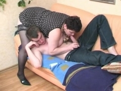 A Brunette Shorthair-BBW-Milf fucked by young Guy