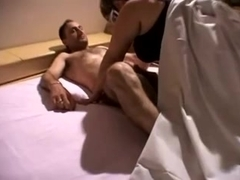 Dilettante italian granny drilled and dped by two boyz