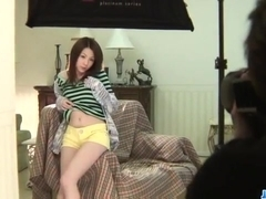 Amateur�Rika Koizumi loves cum dripping her throat