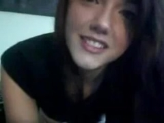 Perfect gal performs on a webcam