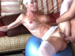 Hardcore fuck with pornstars named Brandi Love and Keiran Lee