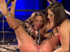 Fabulous squirting, anal sex movie with hottest pornstars Savannah Fox and Lea Lexis from Whippeda.