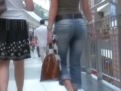 A rousing street candid spy cam voyeur video
