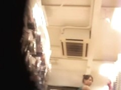 Changing room spy cam movie with the real girl upskirt