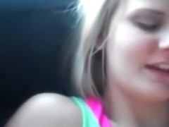Lesbo fur pie licking in the car