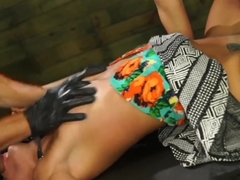 Amazing pornstar Marina Angel in Fabulous College, Threesomes porn scene